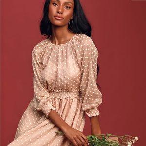 🆕✨Lulus Blush Midi Dress